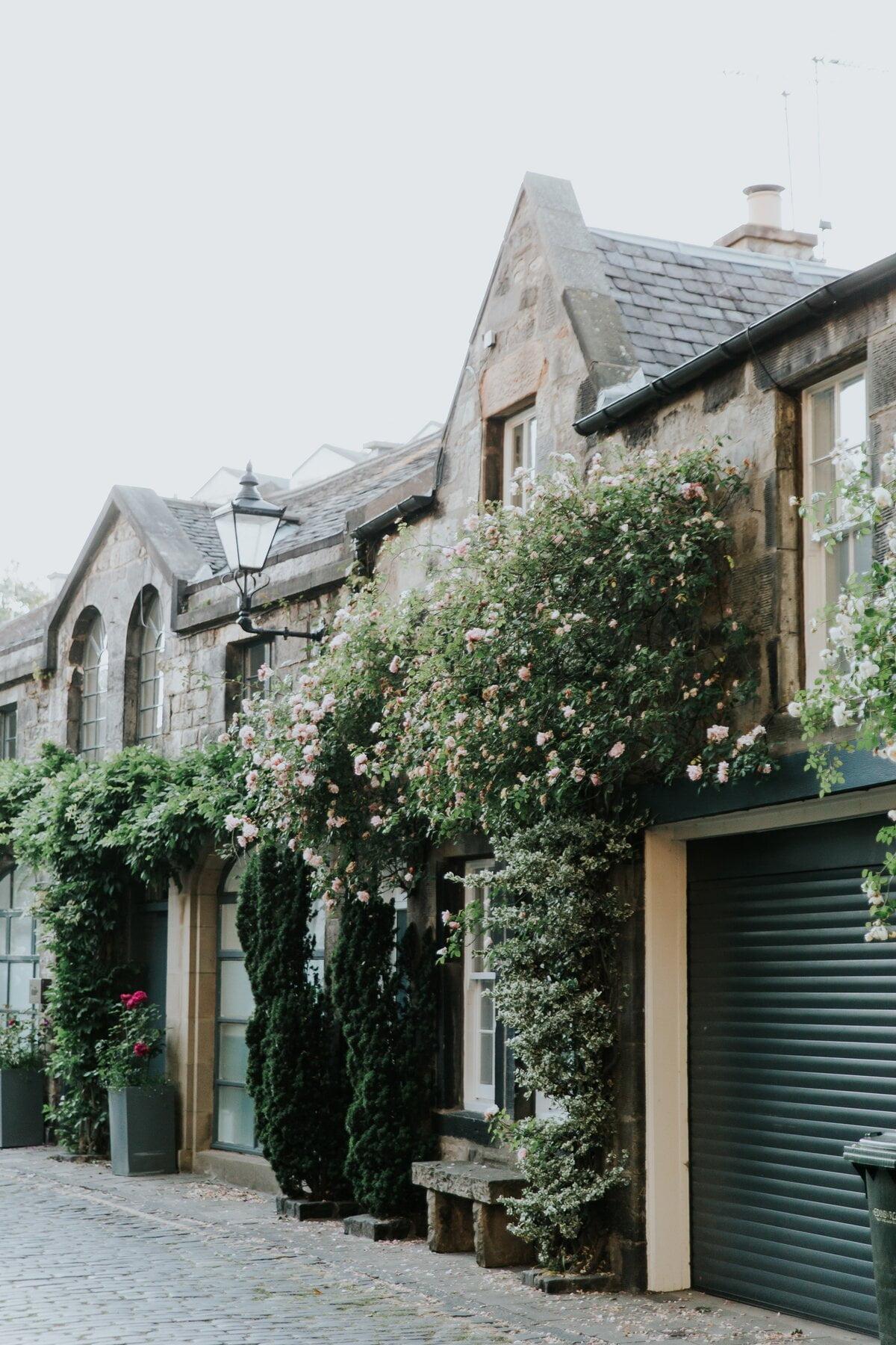 Image description. house with a green facade
