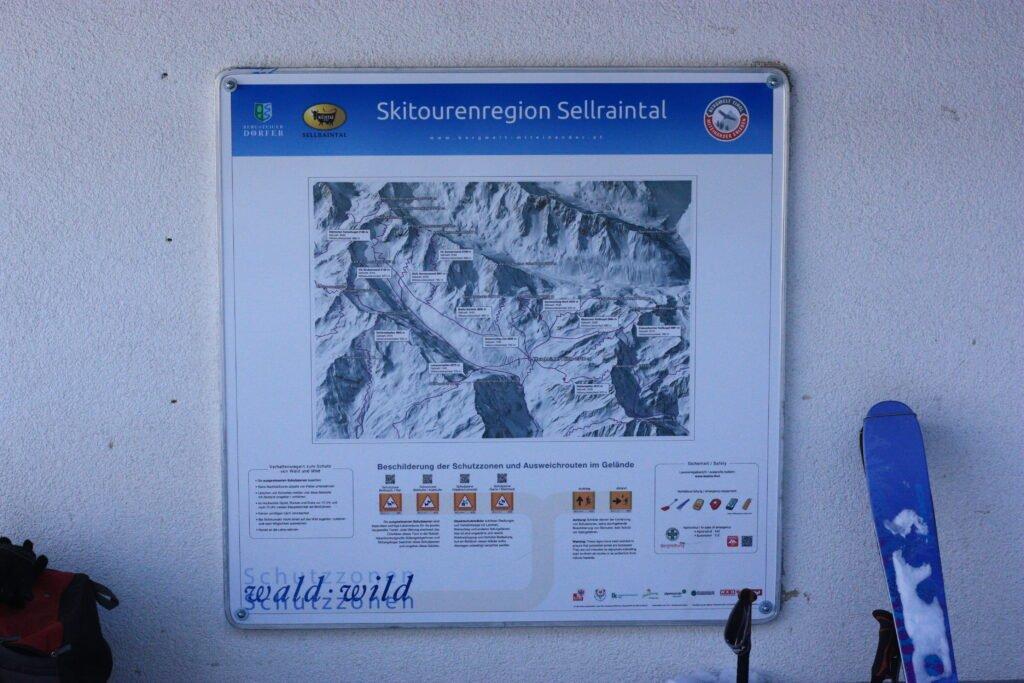 image description. ski touring map