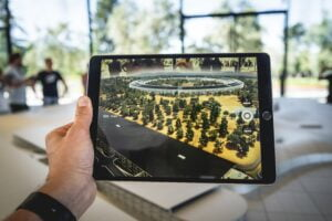 Tablet with a visualization of a vision